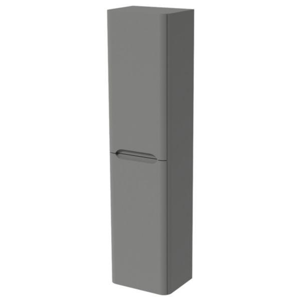 Malmo Dust Grey Wall Hung J Pull Tower Unit