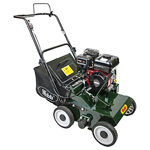 Handy 38cm Petrol lawn scarifier with 22 Handy reversible steel flails & collector