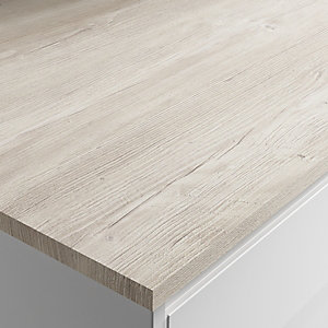Wickes Laminate Worktop - Polar Pine Square Edge Worktop 610mm X 22mm X 3m