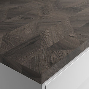 Wickes Laminate Worktop - Edgy Wood Square Edge Worktop 600mm X 38mm X 3m