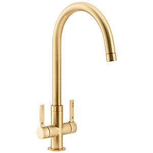 Abode Pico Monobloc Kitchen Tap Brushed Brass