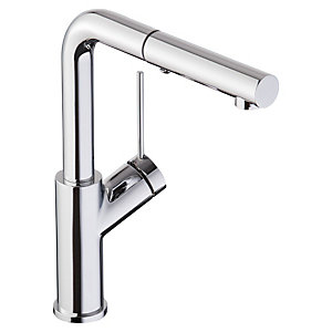 Abode Virtue Angle Pull Out Kitchen Tap Chrome