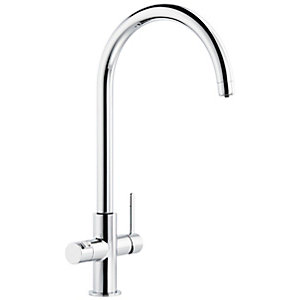 Abode Prothia 3 In 1 Kitchen Tap Chrome