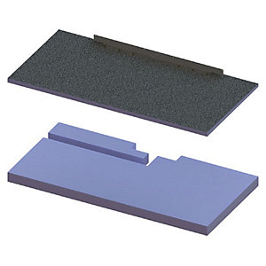 Wickes 140mm Elements Concept Raised Base Shower Tray Kit For Infinity Trays - 1850 X 900mm