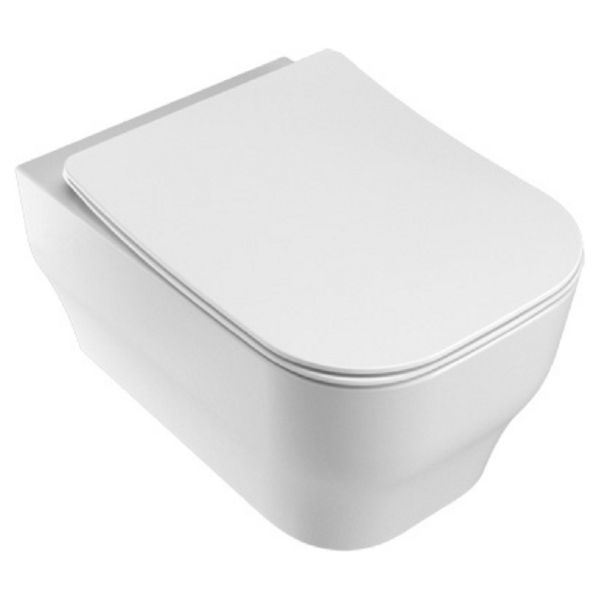 Siena Easy Clean Wall Hung Toilet Pan & Soft Close Seat