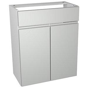 Wickes Hertford Gloss Grey Vanity Unit - 600 x 735mm