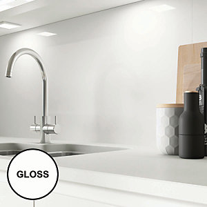 AluSplash Splashback Ice White - Gloss