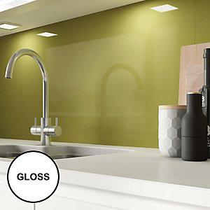 Image of AluSplash Splashback Olive 900 x 800mm - Gloss