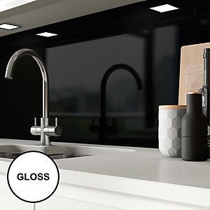 Image of AluSplash Splashback Ebony 900 x 800mm - Gloss