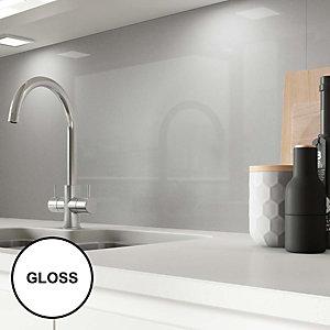 Image of AluSplash Splashback Space Silver 3050 x 610mm - Gloss