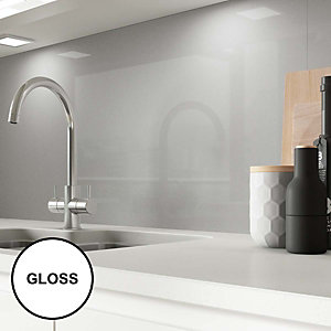 AluSplash Splashback Space Silver - Gloss