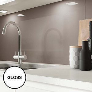 Image of AluSplash Splashback Latte 900 x 800mm - Gloss