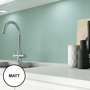 Image of AluSplash Splashback Green Mist 900 x 800mm - Matt