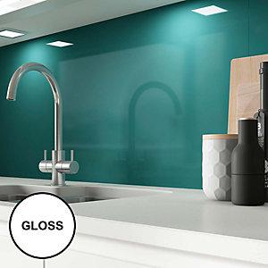 Image of AluSplash Splashback Totally Teal 900 x 800mm - Gloss