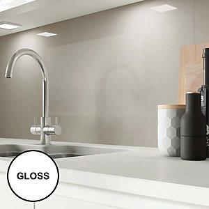 Image of AluSplash Splashback Warm Grey 900 x 800mm - Gloss