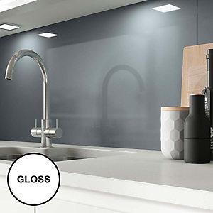 Image of AluSplash Splashback Petrol Blue 900 x 800mm - Gloss
