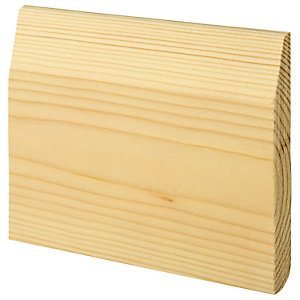Wickes Dual Purpose Chamfered/Bullnose Pine Skirting 19 x 169 x 3600mm Pack of 2