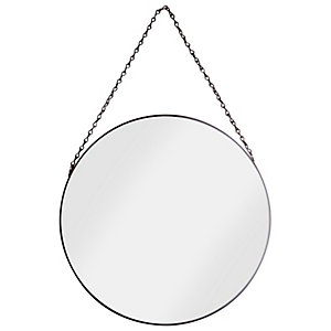 Croydex Metal Framed Mirror - Black Matte