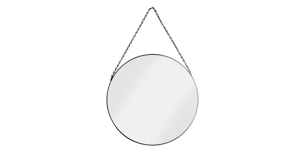 Croydex Metal Framed Mirror - Black Matte