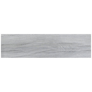 Wickes Mercia Light Grey Wood Effect Wall & Floor Tile - 150 x 600mm - Sample