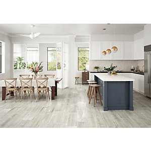 Wickes Maine Grey Wood Effect Porcelain Wall & Floor Tile - 225 x 900mm