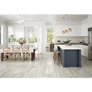 Wickes Maine Grey Wood Effect Porcelain Wall & Floor Tile - 225 x 900mm