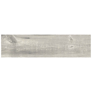 Wickes Maine Grey Wood Effect Porcelain Wall & Floor Tile - 225 x 900mm - Sample
