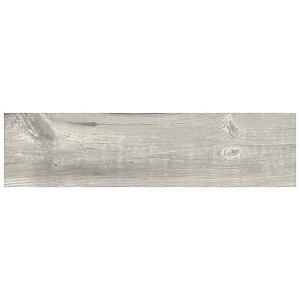 Wickes Maine Grey Wood Effect Porcelain Wall & Floor Tile - 225 x 900mm - Sample