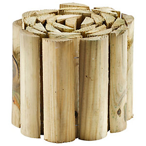 Image of Wickes Timber Border Log Edging Roll - 150 X 1500mm