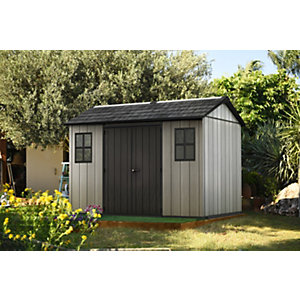 Keter Oakland 11 x 7ft Double Door Outdoor Apex Plastic Garden Shed