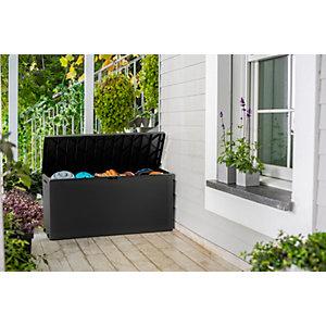 Keter Emily Outdoor Plastic Garden Storage Box - Graphite