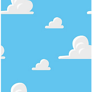 Disney Toy Story ANDY'S Room Blue Clouds Wallpaper 10m
