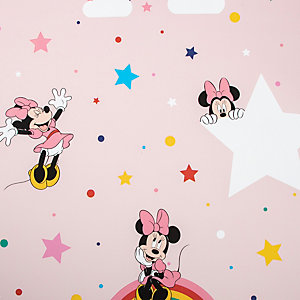 Disney Rainbow Minnie Pink Wallpaper 10m