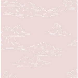 Superfresco Easy Vintage Cloud Pink Wallpaper 10m