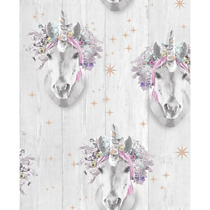 Fresco Unicorn Hologram Wallpaper 10m