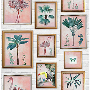 Fresco Tropical Frame Wallpaper 10m