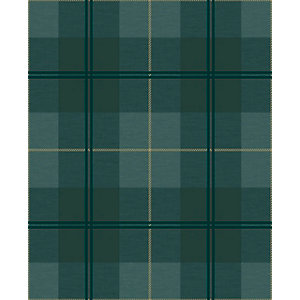Superfresco Easy Heritage Tweed Green Wallpaper 10m