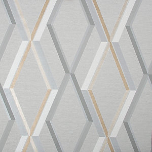 Superfresco Easy Prestige Geometric Grey Wallpaper 10m