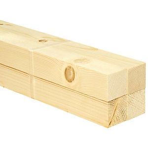 Wickes Whitewood PSE Timber - 34 x 34 x 2400mm - Pack of 4