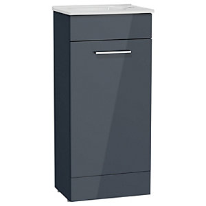 Anthracite Grey Cloakroom Vanity Unit & Basin 400mm
