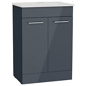 Anthracite Grey Vanity Unit & Basin 600mm