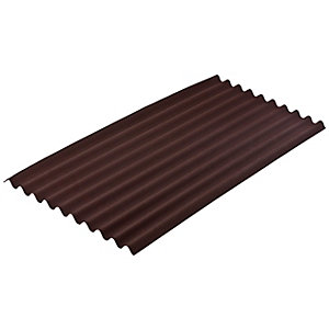 Onduline 3mm Brown Corrugated Bitumen Sheet - 950mm x 2000mm