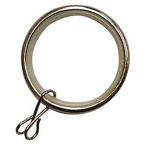 Wickes 28mm Metal Rings Stainless Steel Effect 10 Pack