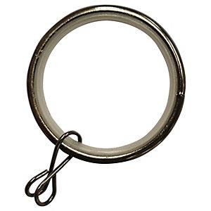 Black Nickel 28mm Metal Curtain Rings - Pack of 10