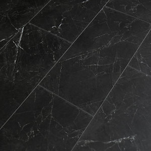 Novocore Black Marble Effect Luxury Vinyl Tile - 2.52m2