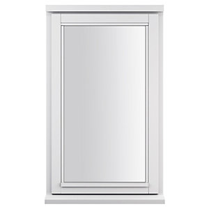 White Double Glazed Timber Framed Window Right Hand 745 x 625mm