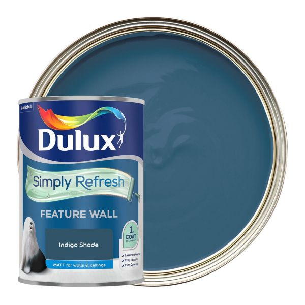 Dulux Simply Refresh One Coat - Indigo Shade - Feature Wall Paint