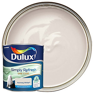 Dulux One Coat - Nutmeg White - Simply Refresh Matt Emulsion Paint 2.5L