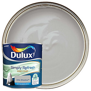 Dulux One Coat - Chic Shadow - Simply Refresh Matt Emulsion Paint 2.5L