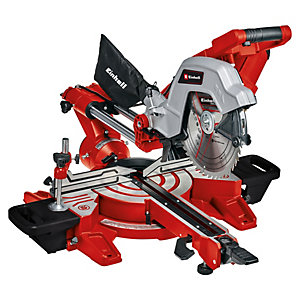 Einhell Expert TE-SM 254 Dual 254mm Corded Sliding Double Bevel Mitre Saw - 2100W